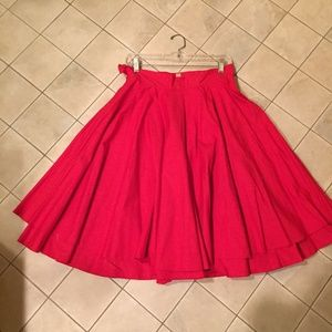Modcloth Once Moon Full A-line Vintage Skirt NWOT